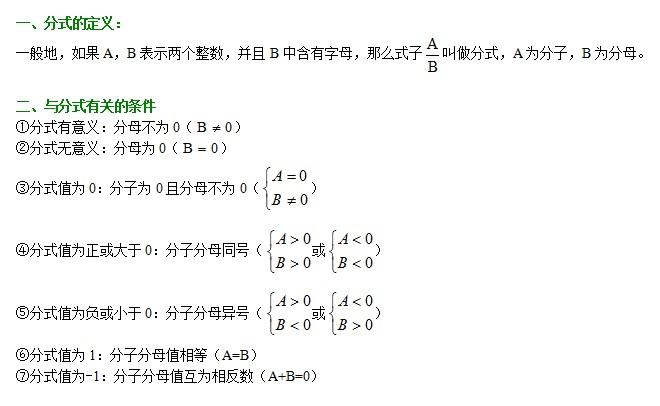 中考数学试题知识点:分式_青岛中考数学_精品学习网
