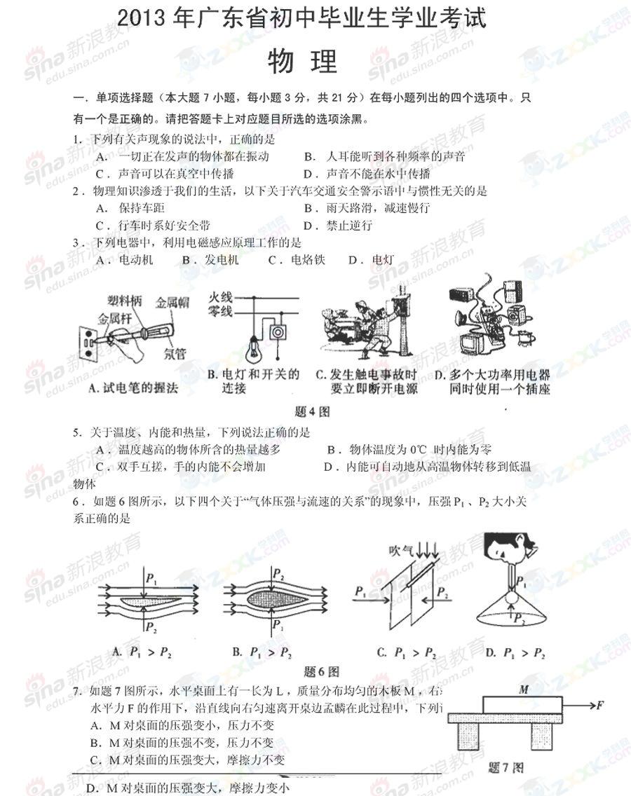 2013年广东潮州中考物理试卷