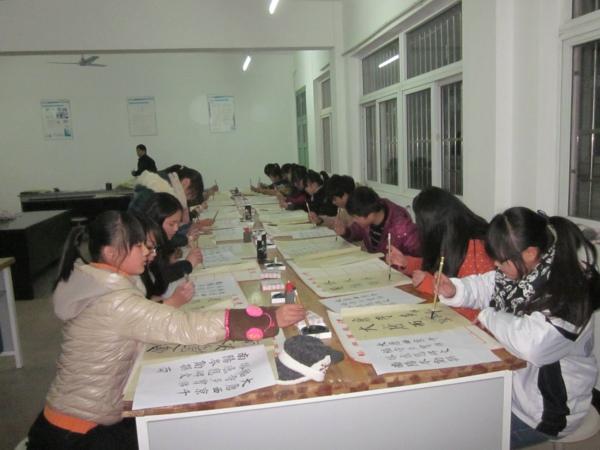 宣城水阳高级中学毛笔字临摹比赛