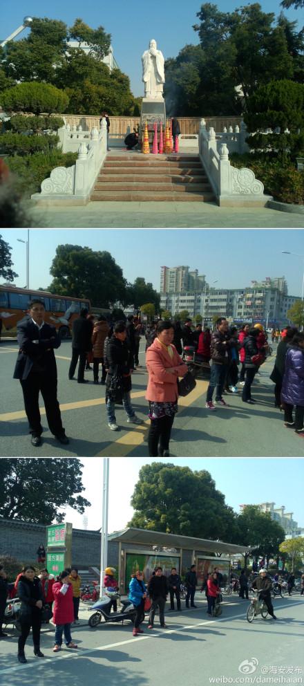 昨天是江苏小高考第一天,海安县共设海安高级中学,实验中学,海陵中学3