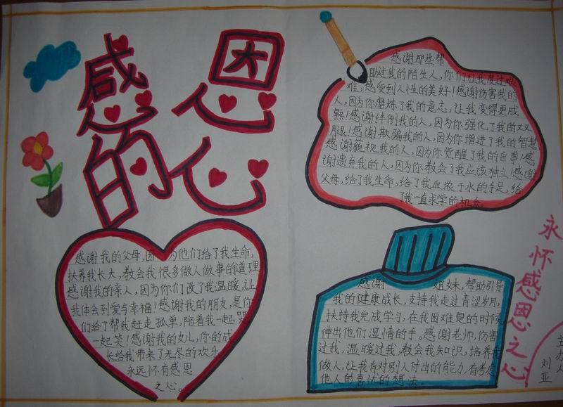中学生母亲节手抄报:感恩的心