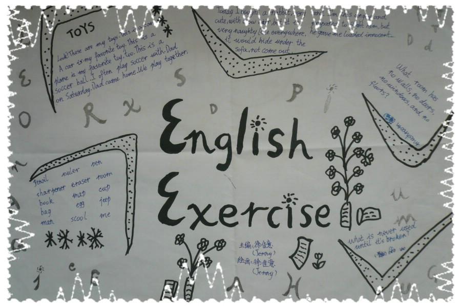 暑假, 英语, 暑假英语手抄报 3高清图片