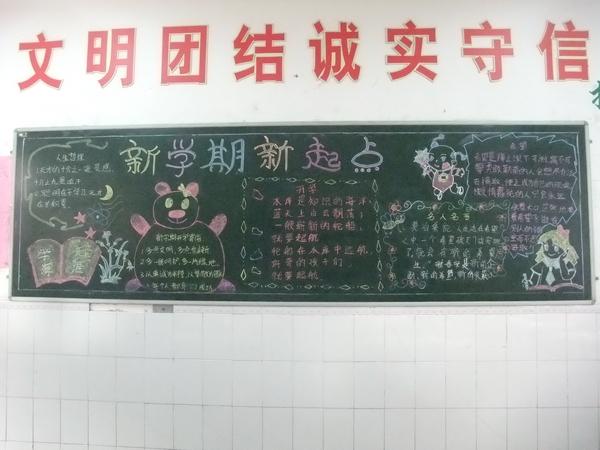 优秀初中生新学期黑板报资料
