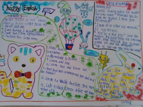五年级暑假英语手抄报资料图片