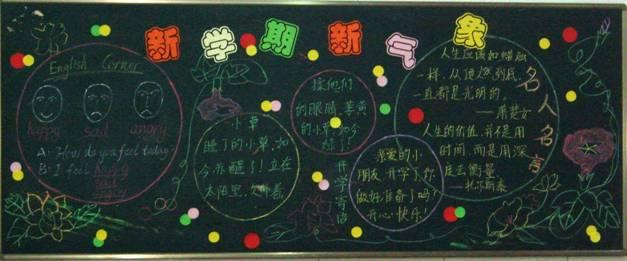 漂亮的高中生新学期黑板报资料