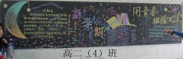 漂亮的高中生开学啦黑板报资料