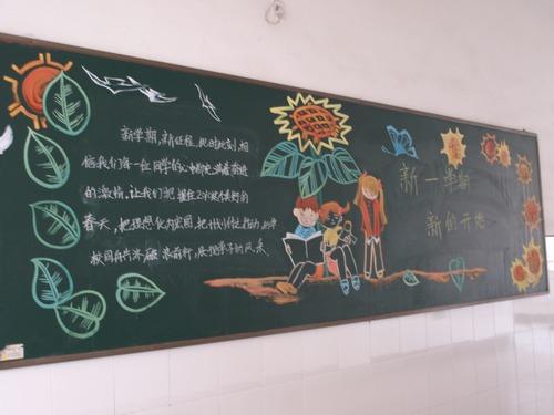 小学二年级新学期黑板报内容|小学二年级新学期黑板报图片