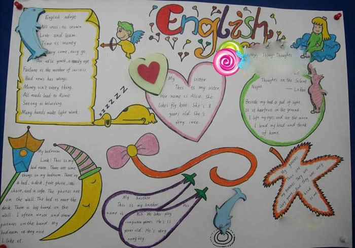 漂亮的小学生暑假英语手抄报图片