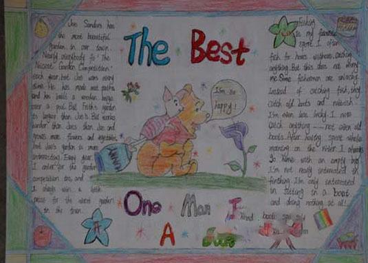 小学四年级英语手抄报版面设计图展示