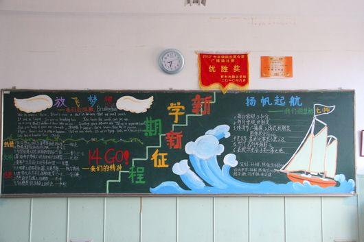精选中学生14年要开学了黑板报设计