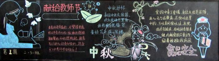 小学生中秋节黑板报