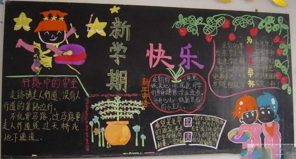 小学六年级新学期黑板报资料
