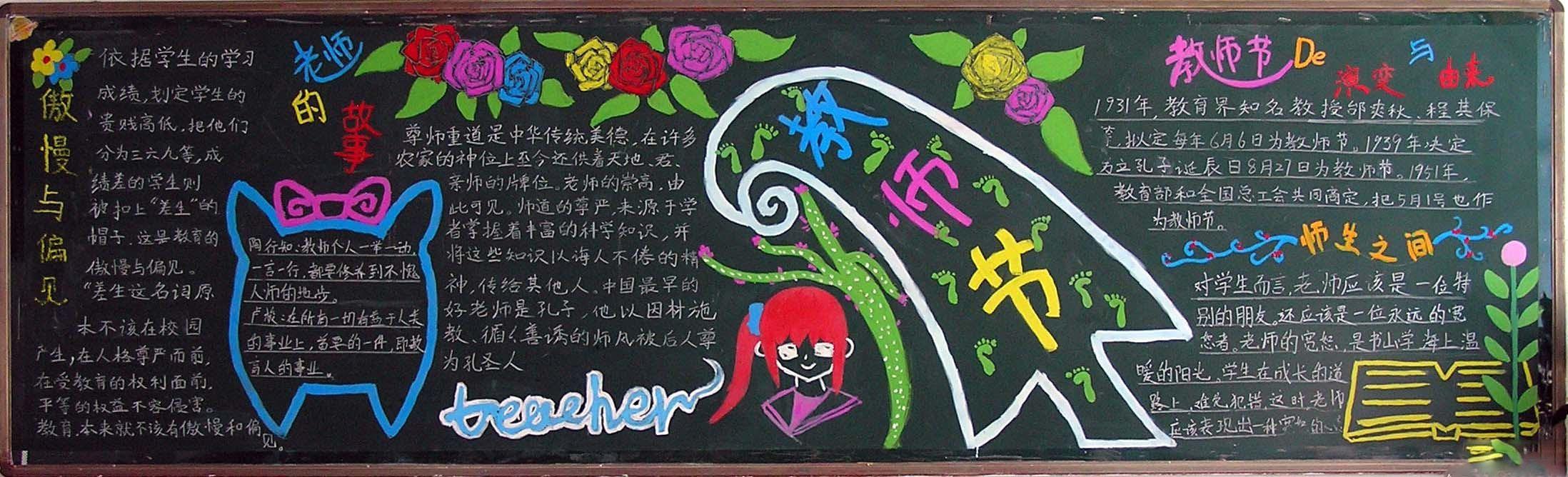 七年级初中生教师节黑板报内容