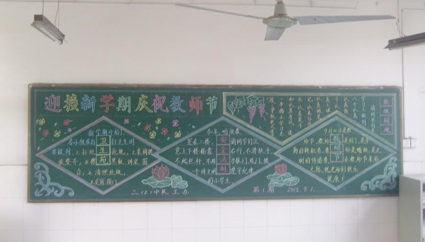 关于教师节黑板报设计
