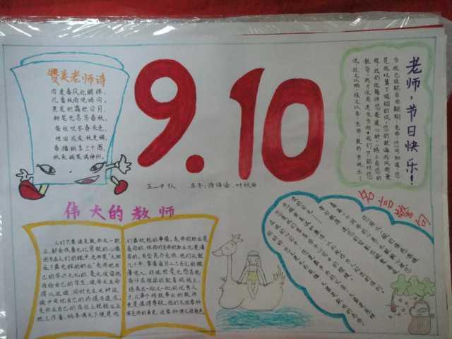 关于教师节14年手抄报经典资料