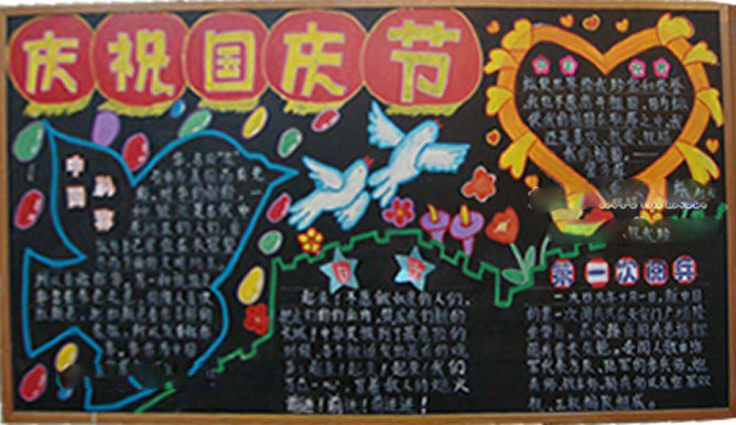 2014国庆节黑板报图片