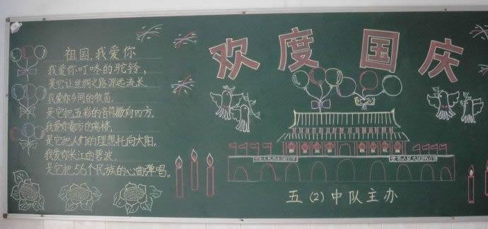 国庆节黑板报图片选集