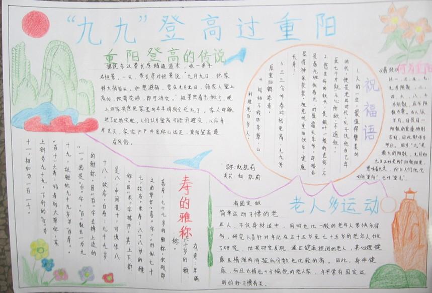 小学生重阳节手抄报内容精选
