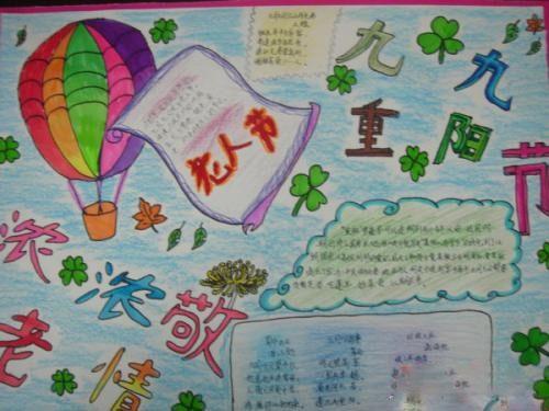 五年级小学生重阳手抄报版面设计图