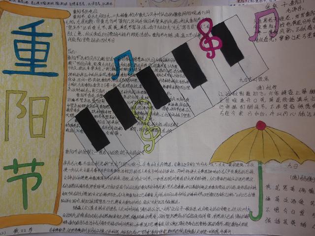 小学重阳手抄报版面设计图