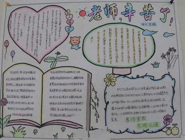 2014年感恩节老师手抄报图片