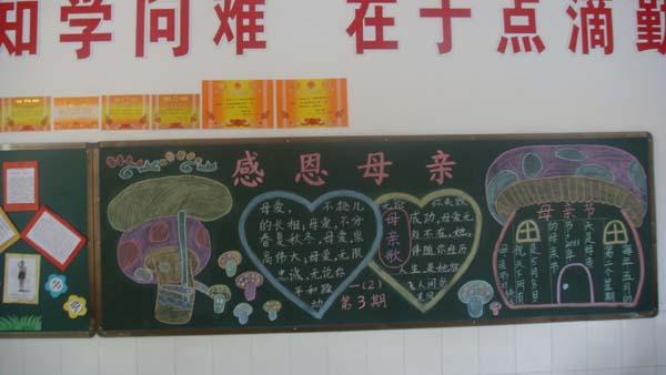 幼儿园学习笔画宝宝黑板报