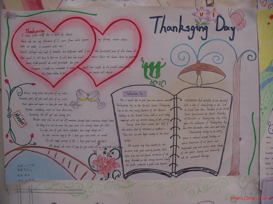 有关感恩节英语手抄报图片