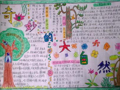 感恩节大自然手抄报内容2014