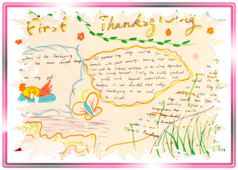 关于感恩的英语手抄报图片精选图片