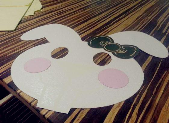 万圣节面具纸艺制作之小兔子面具手工diy制作教程