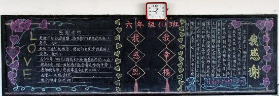 2014年感恩节黑板报设计范例