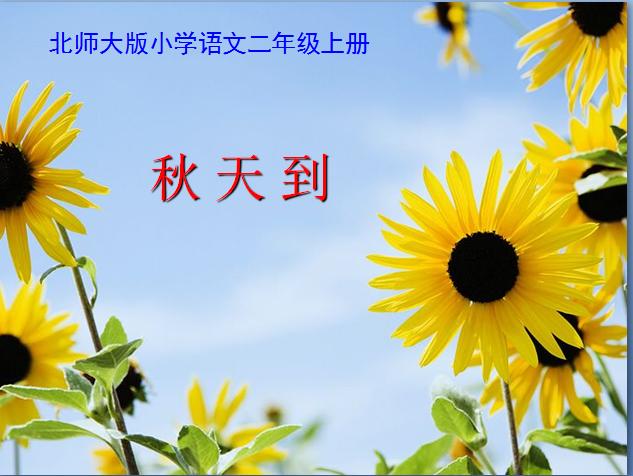 北师大版二年级语文上册课件 秋天到ppt课件 3