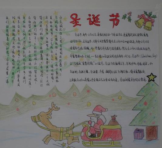 关于圣诞节的手抄报2014年