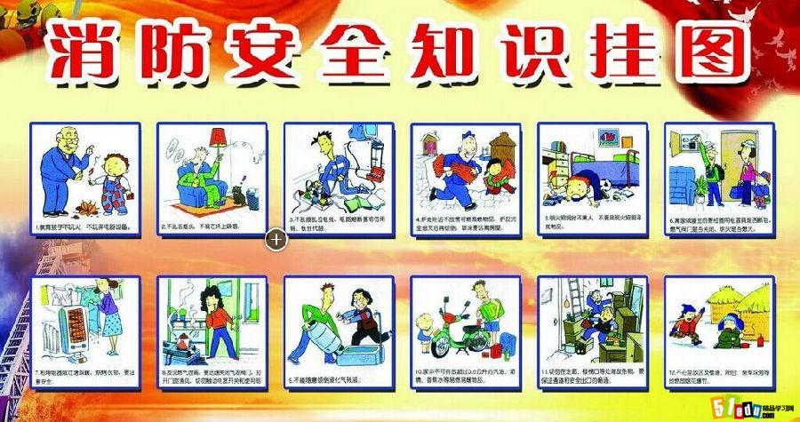 小学生暑假消防安全知识标志