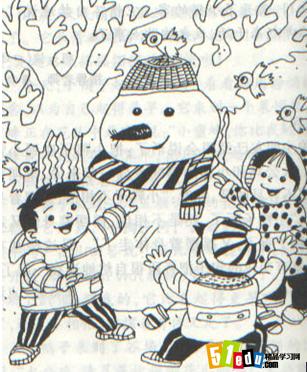 二年级看图写景作文:堆雪人