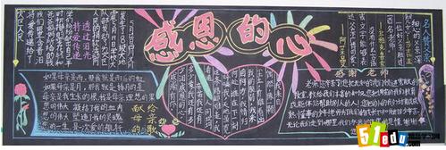 小学生优秀的感恩黑板报设计