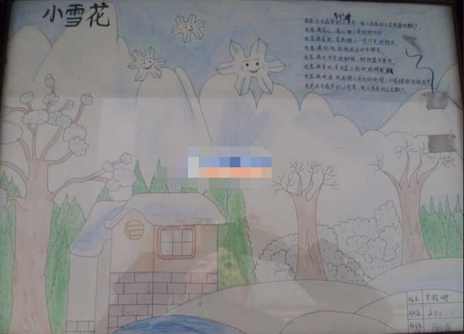 三年级雪花的手抄报 小雪花图片