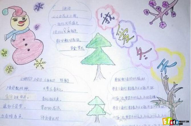 【小学生|初中生|高中生】 【寒假手抄报素材库 |  黑板报设计 | 中小