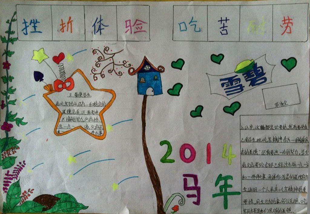 2015小学生挫折体验手抄报图片