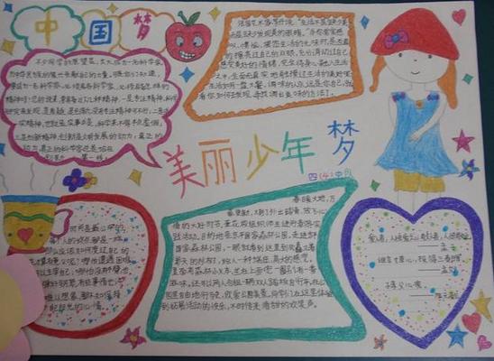 2015年小学生暑期关于中国梦的手抄报