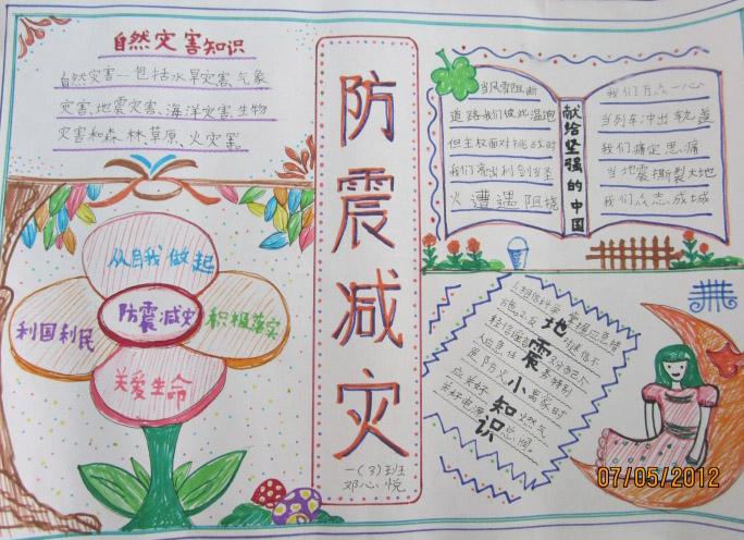 相关推荐: 2015年小学生暑期关于中国梦的手抄报  小学生防震减灾手
