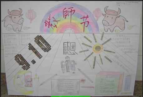 感恩节黑板报-教师节手抄报版面设计 教师节