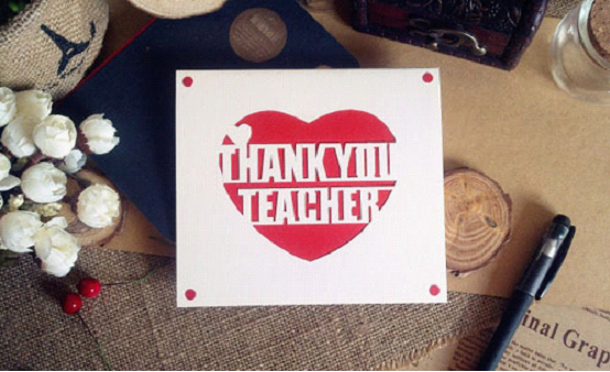 教师节创意礼物:手工贺卡图片