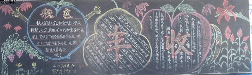 小学生秋天的黑板报素材:丰收