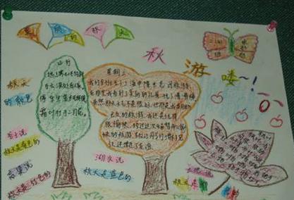 小学生关于秋游的手抄报:秋游喽