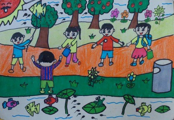秋游的画小学生内容|秋游的画小学生图片