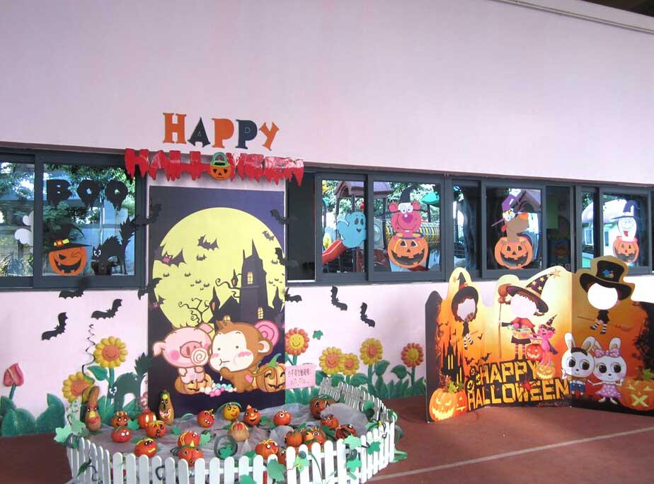 小学万圣节教室门口装扮图片图片