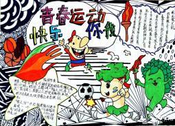 青运会手抄报素材图片:青春运动