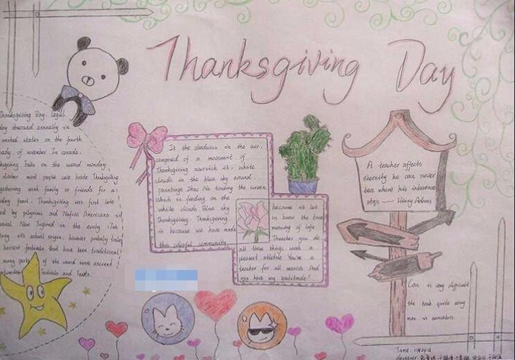 感恩节英语手抄报图片:感恩节thanksgiving day