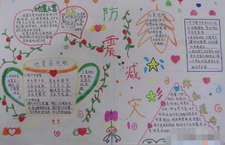 小学生防震手抄报设计:预防地震危害